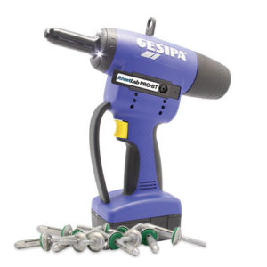 Gesipa Pro BT battery rivet gun with Bulb Tite rivets