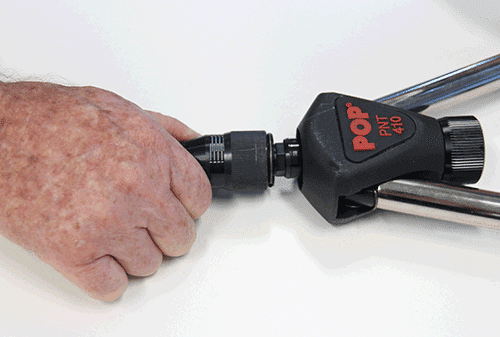 Remove the front seleev of the POP PNT410 Rivnut Tool